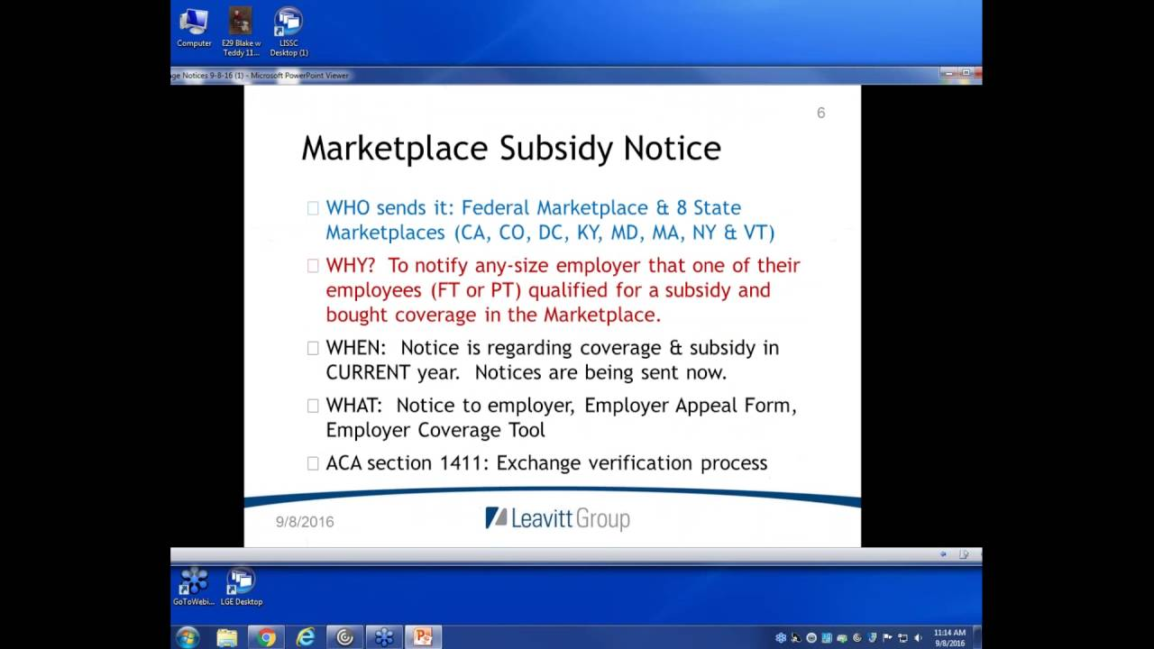 Client webinar on Marketplace Subsidy Notices - YouTube