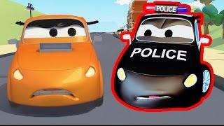 Devriye Aracı itfaiye kamyonu ve polis arabası ve Yarış  Kamyonlar çocuklar için çizgi film
