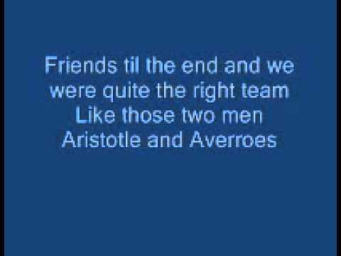 Aristotle and Averroes Lyrics