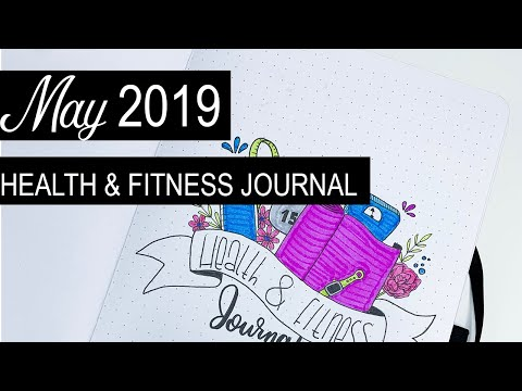 May 2019 Health & Fitness Journal Setup | Plan With Me