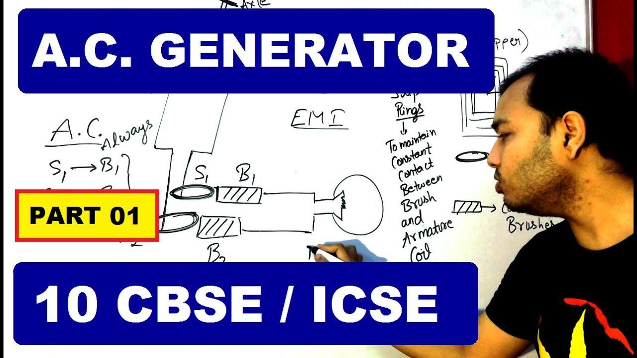 AC GeneRaToR 01 | 10 CBSE / ICSE | Principle And Energy Conversion in AC  GeneRaToR |