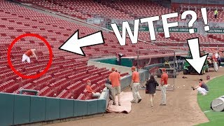 WEIRDEST BASEBALL DRILL at Great American Ball Park