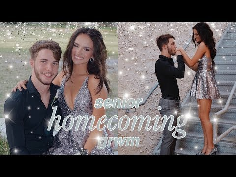 senior homecoming grwm 2019! hair, makeup, outfit, etc! thumbnail