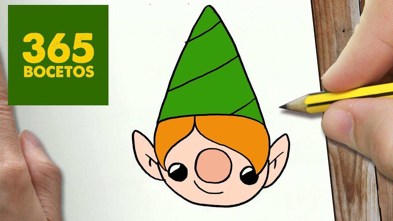 Como Dibujar Elfo Para Navidad Paso A Paso Dibujos Kawaii Navideños