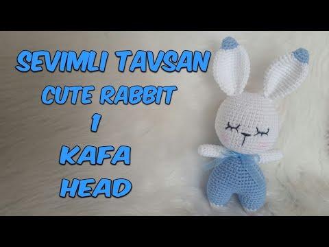 Amigurumi Örgü Oyuncak Tavşan 1 ( Kafa) Amigurumi Crochet  Rabbit 1 (Head)