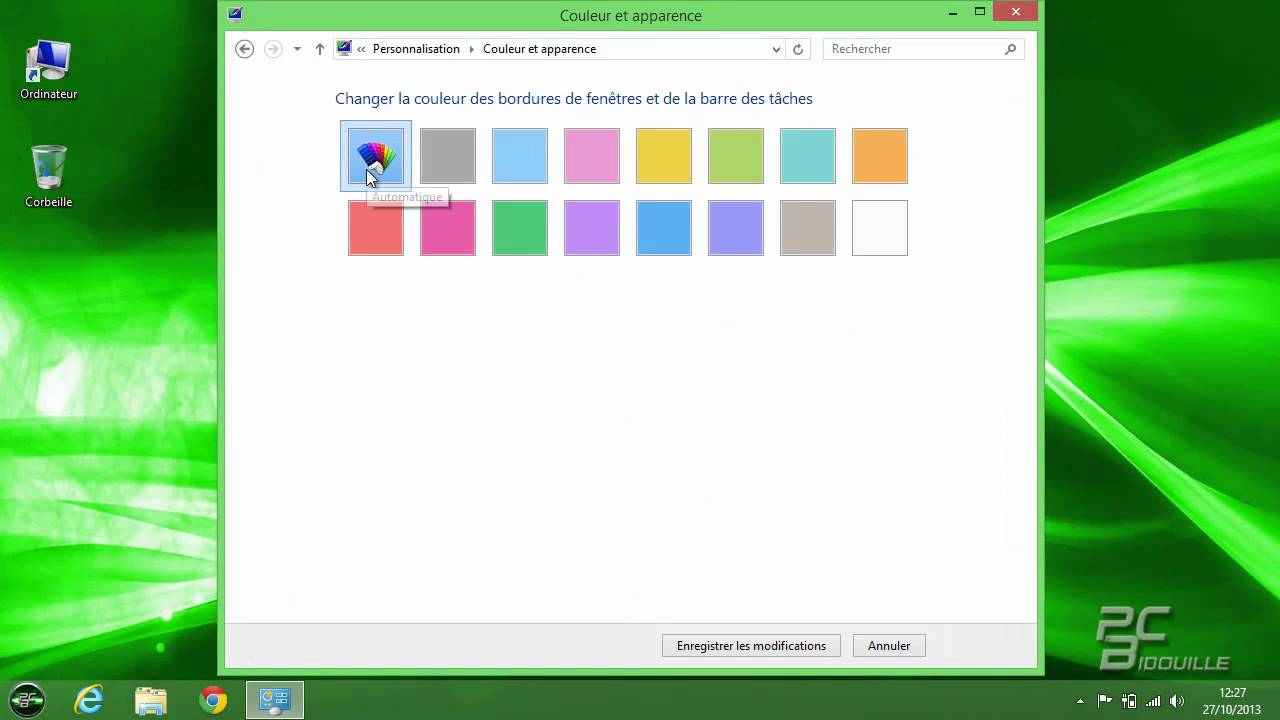 Personnaliser le bureau windows 8 1 youtube for Bureau windows 8