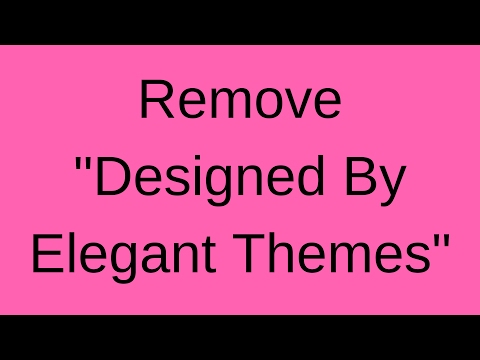 Fixing the Divi Themes Footer Designed By Elegant Themes
