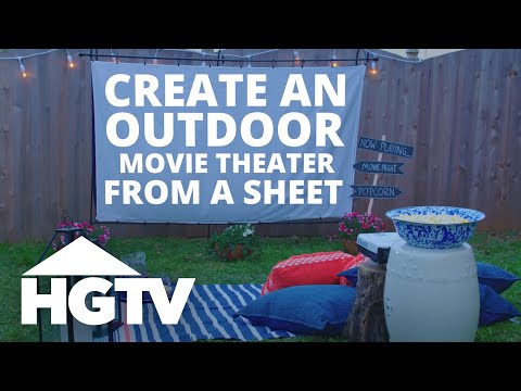 Diy Outdoor Movie Screen Easy Does It Hgtv
