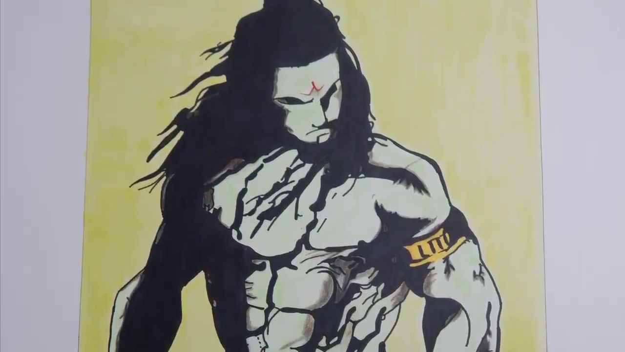 Speed drawing lord shiva angry face youtube