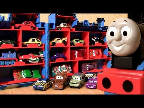 18 Thomas Trains Storage Carry Case Using Disney Pixar