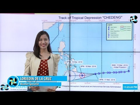 """Press Briefing:Tropical Depression """"#ChedengPH"""" Sunday, 11 PM March 17, 2019"""