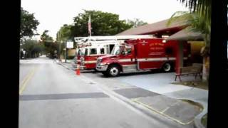 Fire Rescue Station 8c, Oak Avenue, Coconut Grove Florida