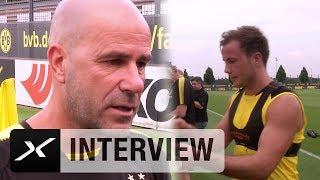 Peter Bosz über Mario Götze, Raphael Guerreiros Verletzung und die BVB-Fans | Borussia Dortmund