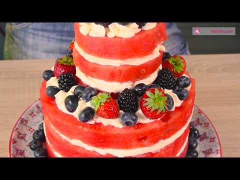 Le Gâteau Pastèque à étages d'Anne-Sophie - Cake Design