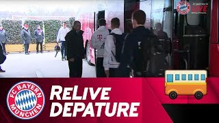 FC Bayern Depature to Leverkusen 🚌 | ReLive