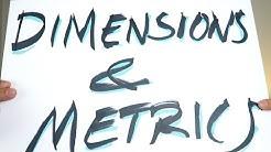DIMENSIONS & METRICS + audience overview! - Google Analytics Basics Tutorial #2