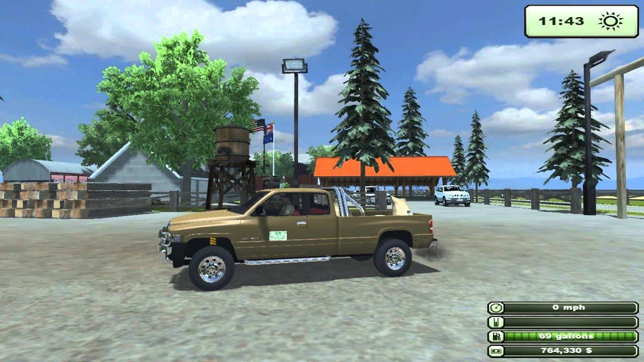 Farming simulator 2013 texas edition new test mod dodge ram 1500 youtube