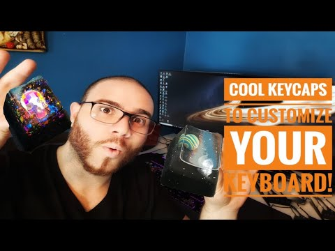 COOL KEYCAPS FOR MECHANICAL KEYBOARDS - HANDMADE ( GALAXY - SKULL )