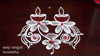 Karthika Masam  Special Diya rangoli & kolam designs    Traditional Indian Art rangoli muggulu