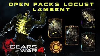 Gears of War 4 l Open Packs Locust Lambent l ¿Cuantos abrí ? l Todos los Personajes ! l 1080p Hd