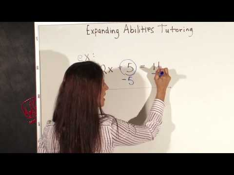 Simple Rules For Solving Algebraic Equations For Kids