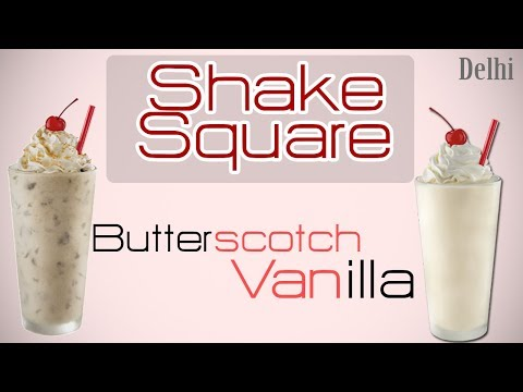 Delhi Shake Square Special! Utterly Delicious Butterscotch Shake And Vanilla Shake