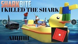 I KILLED THE SHARK! (Roblox Shark-bite Gameplay)