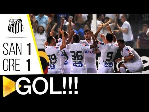 Santos 1 x 1 Grêmio | GOL | Brasileirão (16/10/16)