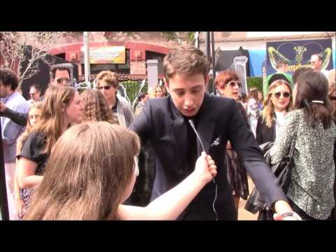Morgan Interviews Ryan Lee at the Goosebumps Red Carpet