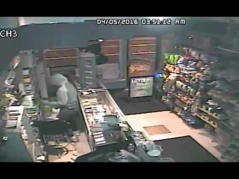 Stamford police are asking for the public's help in identifying a burglar caught on camera at Landmark Convenience on Tuesday.