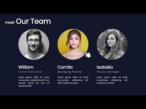 Responsive Our Team Design [HTML & CSS] | WebIQ