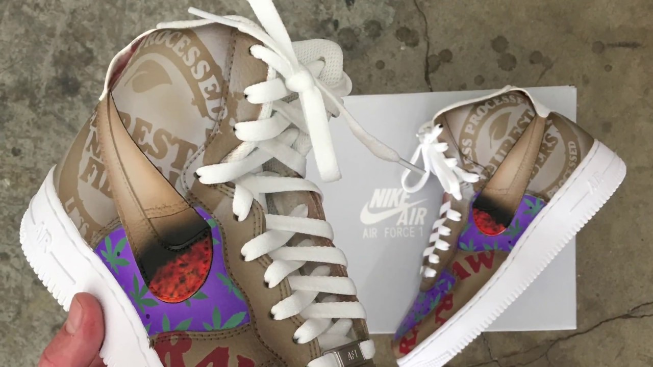 more photos 0d9c7 a2c29 How To Paint Custom Nike Air Force 1 Sneakers - Raw Rolling Papers