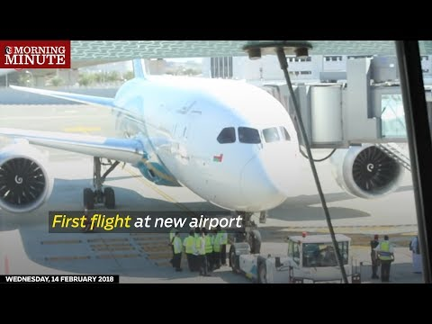 First flight at new airport