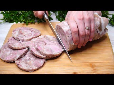 Колбаса из свиной рульки в домашних условиях
