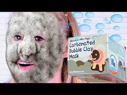 ТЕСТ ДРАЙВ Bubble Clay Mask ПУЗЫРЬКОВАЯ МАСКА Elizavecca Carbonated ПУЗЫРЯЩАЯСЯ МАСКА