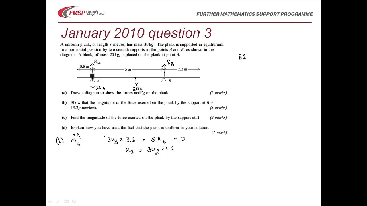 Fmsp revision aqa m2 january 2010 qn 3 moments of parallel forces fmsp revision aqa m2 january 2010 qn 3 moments of parallel forces youtube robcynllc Image collections