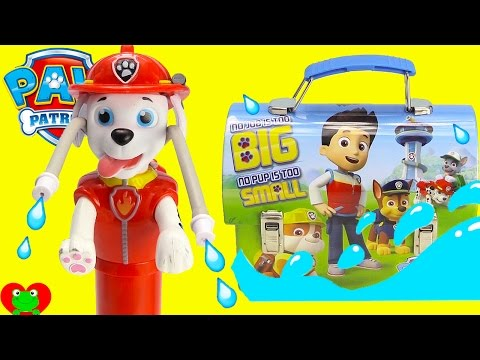 Paw Patrol Marshall Water Blaster Magical Surprises with PJ Masks Shopkins
