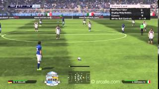 PES 2015 gameplay Germany vs Italy demo