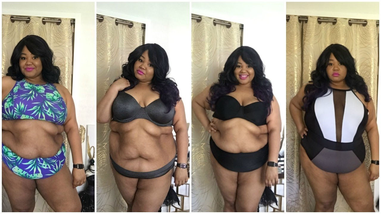 202551964e435 Plus Size Bikini   Lingerie Try-on