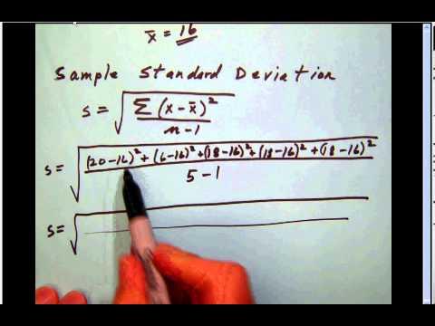 math_stats_B 013 Sample standard deviation