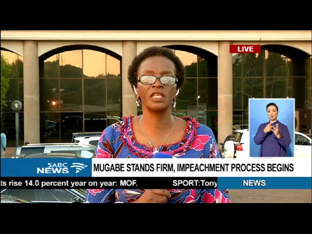 Mugabe stands firm, impeachment process begins
