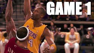 KOBE VS LEBRON NBA 2K10 NBA FINALS GAME 1