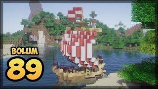 YELKENLİ GEMİ YAPIMI   Bölüm 89   Minecraft Survival  