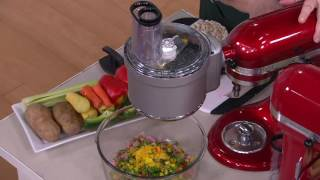 KitchenAid Premium Food Processor Stand Mixer Attachment on QVC