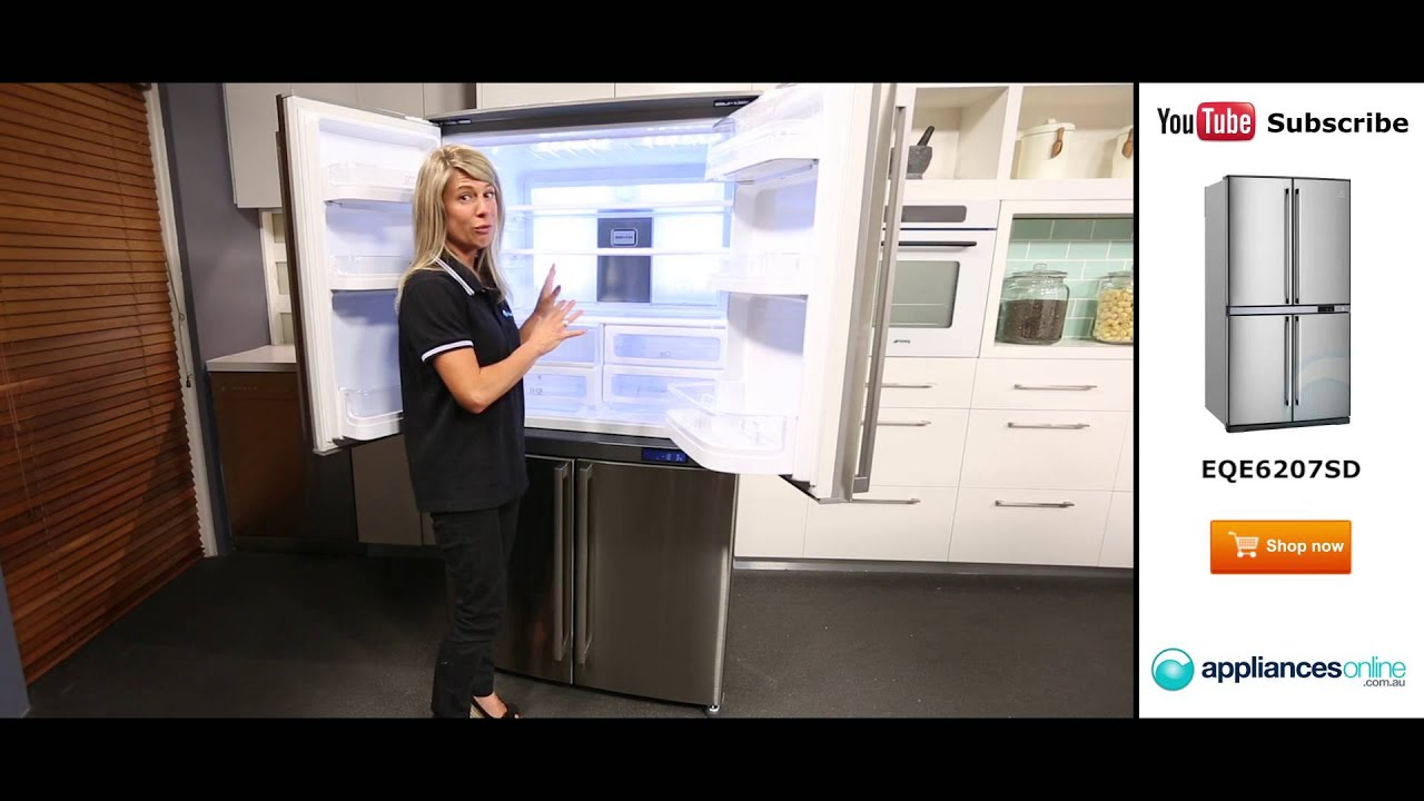 620l electrolux 4 door fridge eqe6207sd reviewed by product expert appliances online youtube