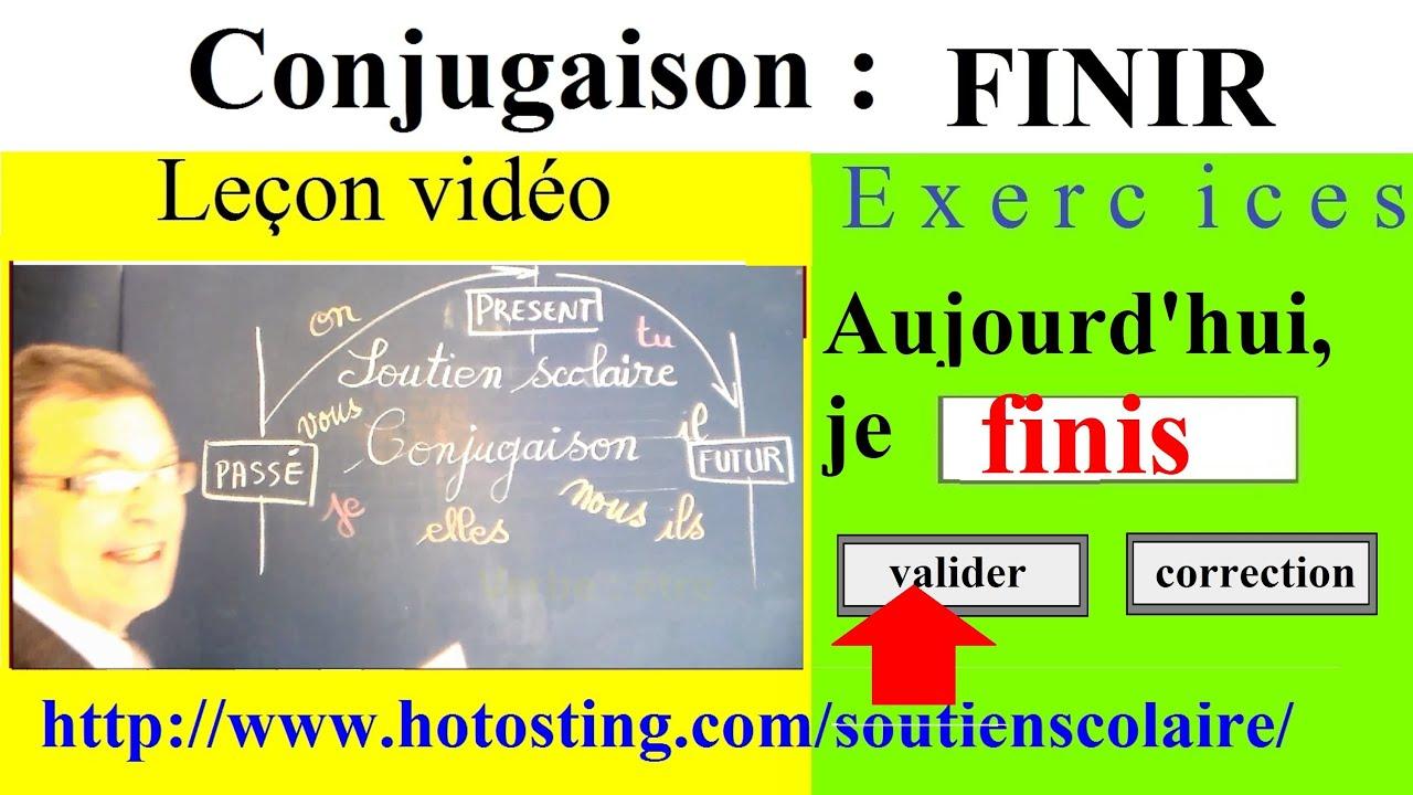 Conjugaison Verbe Finir Du 2eme Groupe Imparfait Present Futur Youtube