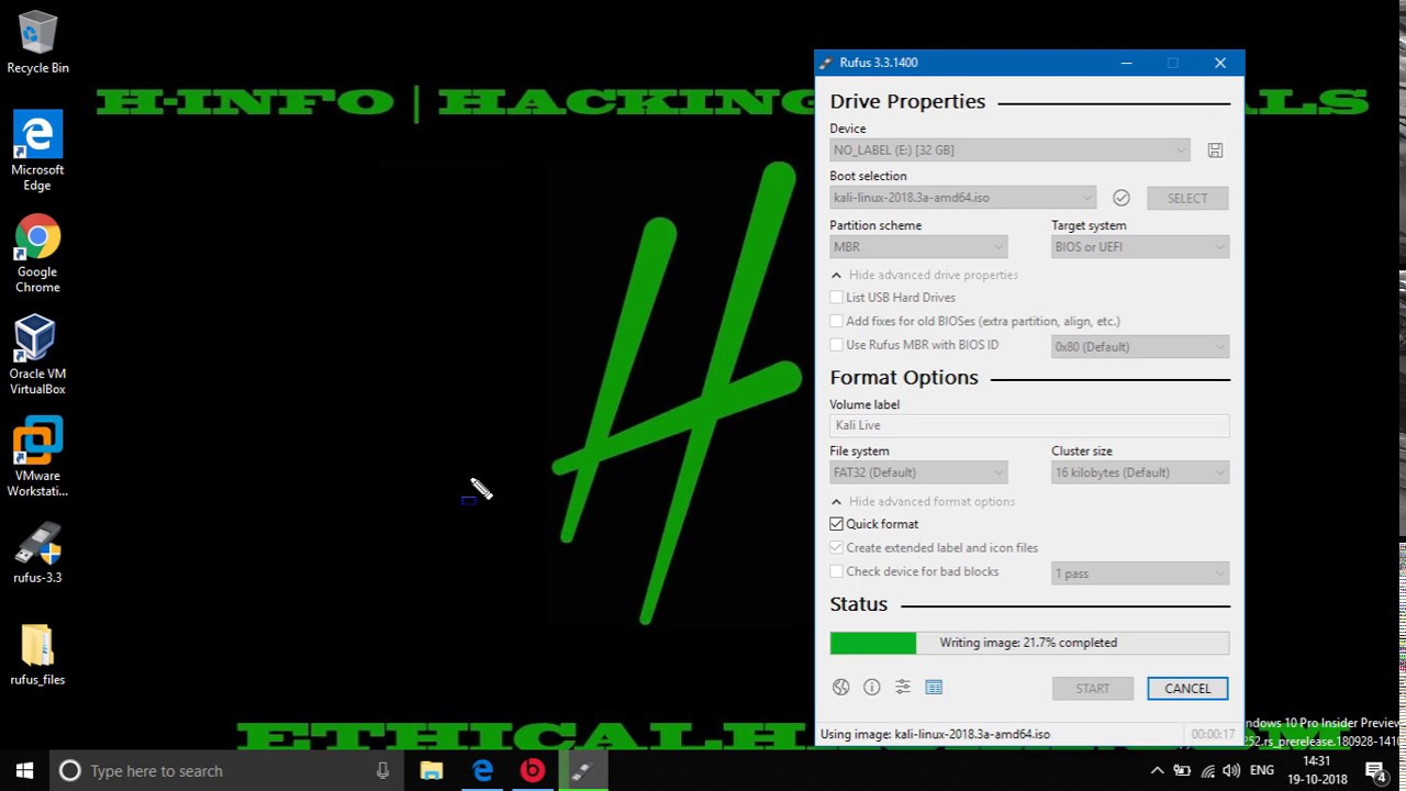 How To Make Kali Linux Bootable in Windows 10 with Rufus [HINDI]