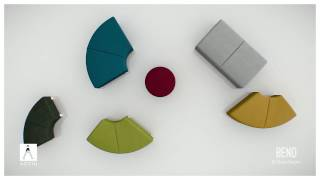 Bend, soft seating that can transform and adapt to any space