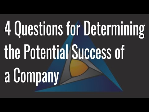 4 Questions for Determining the Potential of a Companies Success   Raymond Watt from Entry Ventures