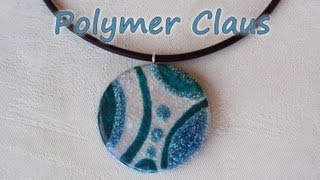 Ciondolo Effetto Vetro-Glass Effect Tutorial (polymer clay tutorial)